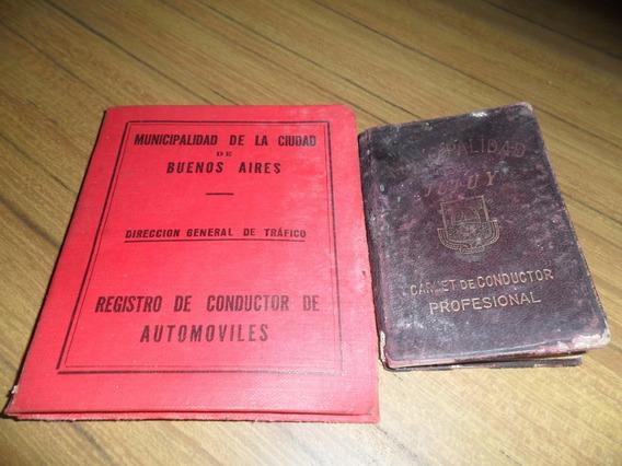 4 Registros Antiguos¡ De Conducir Coleccion¡