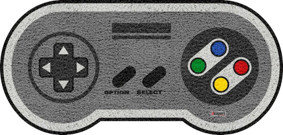Tapete Capacho Pers - Joystick Super Nintendo - 0241-9