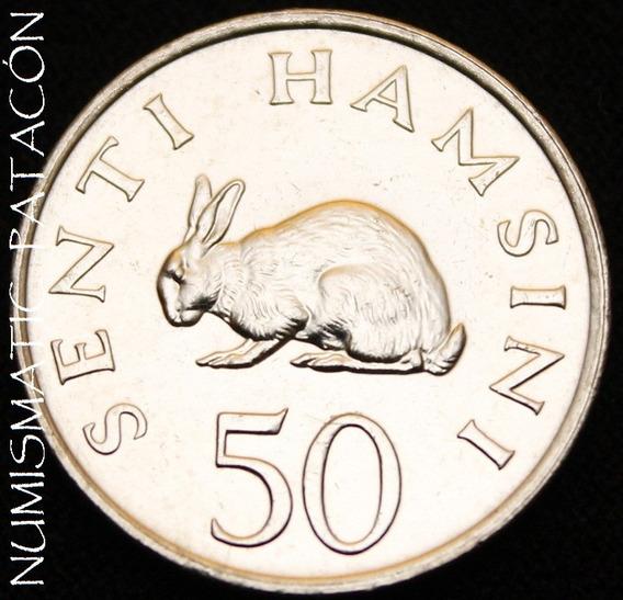 Moneda De Tanzania 50 Senti 1989 - Sin Circular