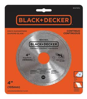 Disco Diamantado 4 Polegadas Liso Black+decker Bd47401l-br