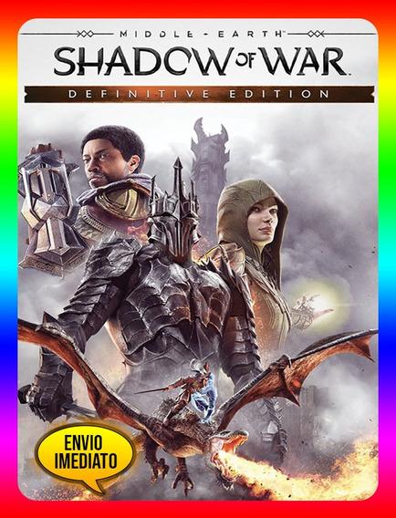 Middle Earth Shadow War Definitive Pc - Steam Key (envio Já)