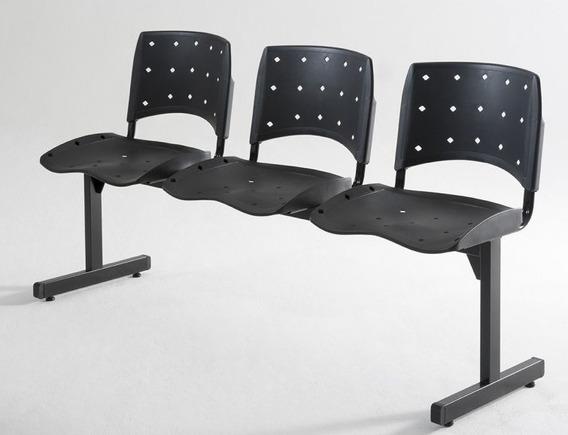 Conjunto Cadeira 3 Lugares Longarina Empresa Recepção