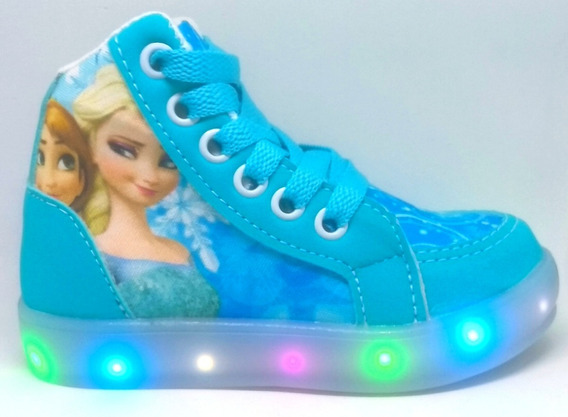 Botinha Frozen De Led Pronta Entrega Do 20 Ao 34