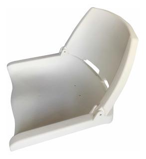 Butaca Plástica Blanca Con Respaldo Rebatible Para Lancha