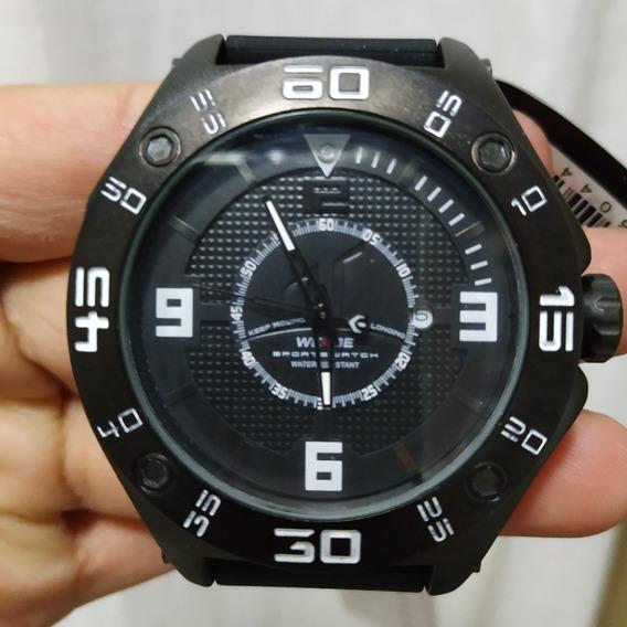 Relógio Weide Masculino Original Bonito E Barato Pulseira B