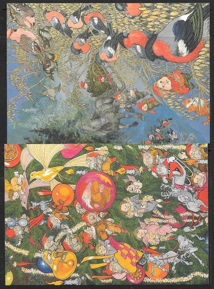 Noruega 1998 3 Postales De Navidad Mint
