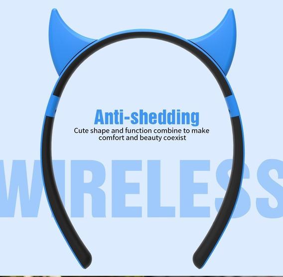 Fone De Ouvido Bluetooth Orelha Cat Devil Deer Rabbit Ear Zw
