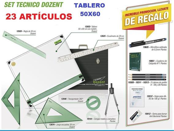 Tablero Completo 50x60 Dozent Técnico Dibujo 23 Artic Cuotas