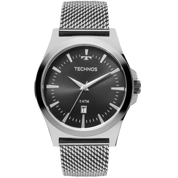 Relógio Technos Masculino Prateado Classic Steel 2115lal/0p