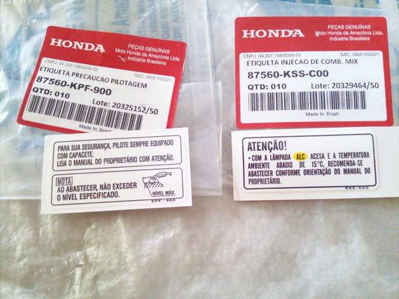 Etiqueta Precaução Tanque Original Honda Fan 150