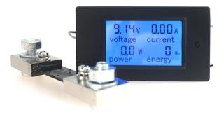 Wattímetro Voltímetro Amperímetro 12v 24 Solar Dc 100a Shunt