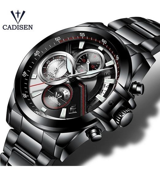 Relógio De Luxo Cadisen Masculino + Frete Grátis