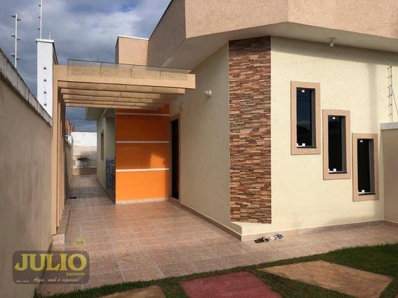 Entrada R$ 53.000,00 +saldo Super Facilitado, Use Seu Fgts, Casa Com Piscina E Churrasqueira Pronta Pra Morar Em Itanhaém No Cibratel - Ca3518