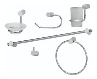 Set Accesorios Baño Peirano Linea 10000 6 Piezas Metal Ahora 12 Y 18