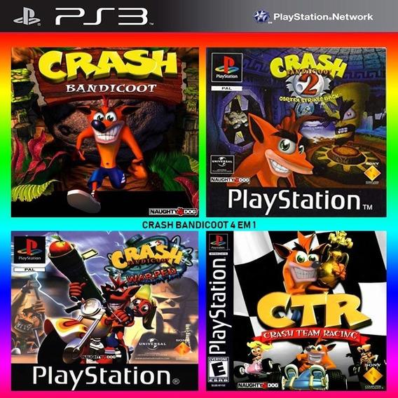 Crash 1 2 E 3 + Team Racing 4 Em 1 - Jogos Ps3 Playsation 3