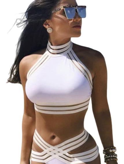 Bikini Conjunto Dama Tipo Vendaje Sexy Playa Elegancia Moda