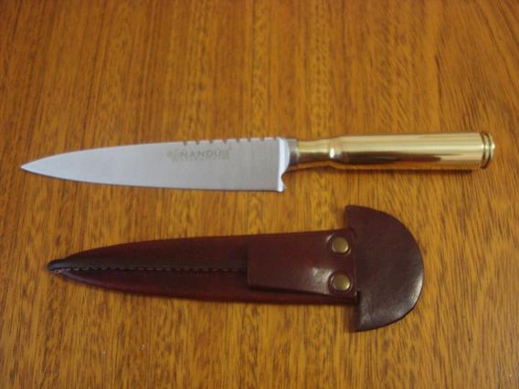 Cuchillo Artesanal De Tandil Con Vaina De 12,7 Mm
