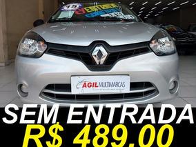Renault Clio 1.0 16v Authentique Único Dono 2015 Prata