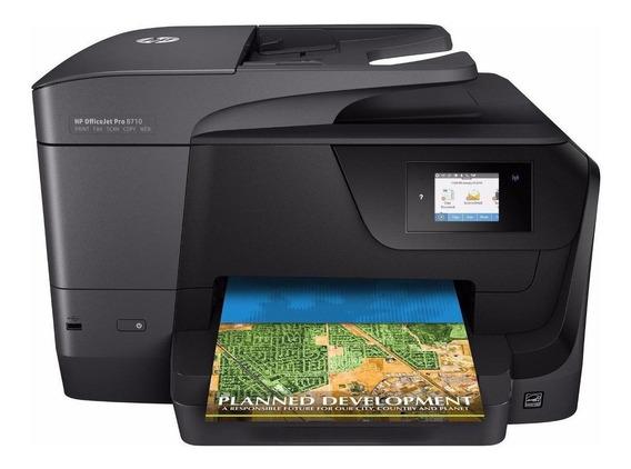 Impressora a cor multifuncional HP OfficeJet Pro 8710 com Wi-Fi 100V/240V preta