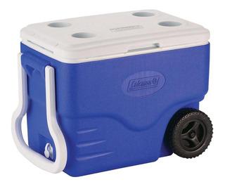 Caixa Térmica Com Rodas 38 L Azul 40qt Coleman