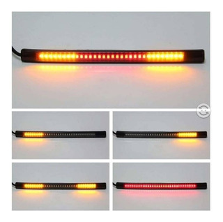 Tira Flexible Led Stop Direccionales Moto Cafe R Universal