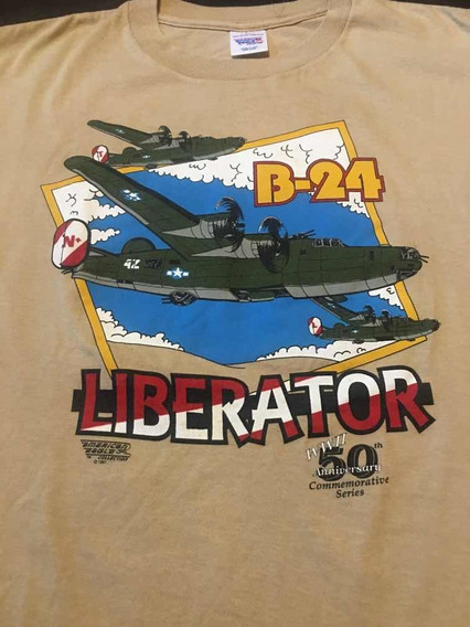 B24 ,remera Conmemorativa Avión B24 Liberator(talle L).