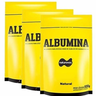 Combo - 3 Albumina Refil - 500g Natural - Naturovos