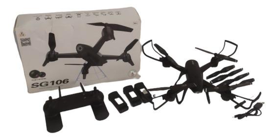 Drone Sg 106 Duas Câmeras 1080p Full Hd 22 Min Voo 3 Bateria