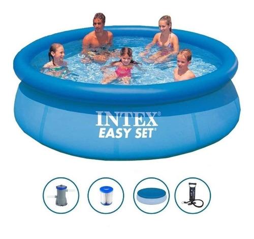 Pileta De Lona Inflable Intex 305x76 + Bomba+cobertor+filtro