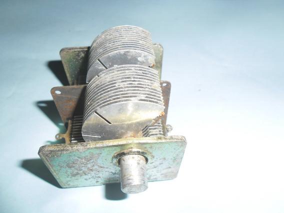 Capacitor Variável Para Rádios Antigos Duas Seções De 480 Pf