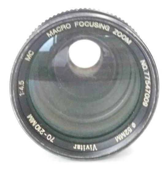 Lente Antiga Vivitar Macro Focusing Zoom 70-210