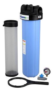 2 Filtro De Água Big 20 Bag Pentair Pentek Com Carcaça Pbh-420 Com Cesto + 6 Refis Bag20 Alta Vazão 10000 L/h