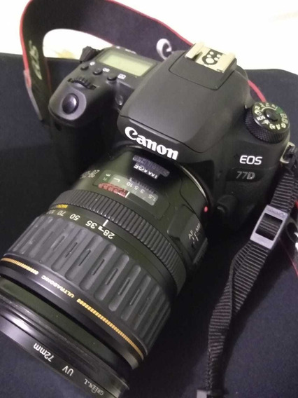 Canon 77d + 28-135mm + 70-200mm Pouco Uso