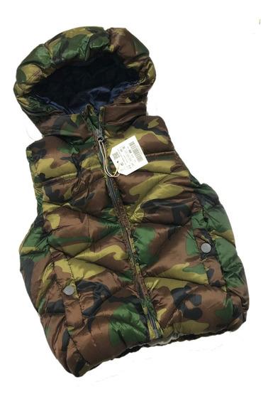 Colete Inverno Infantil Zara Camuflado Menino Roupa Frio