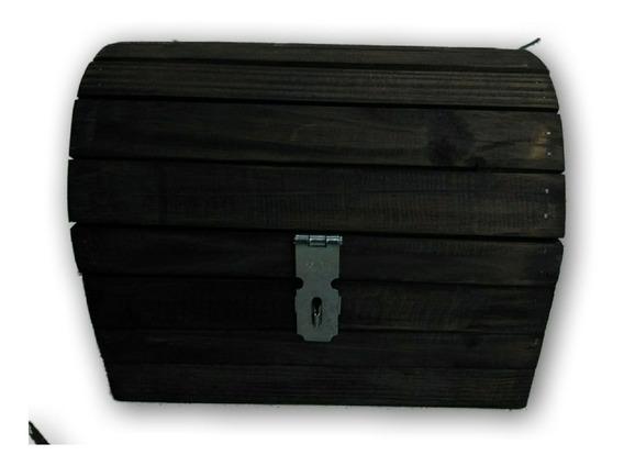 Pequeno Baú Porta Treco Multiuso De Madeira (imbuia)