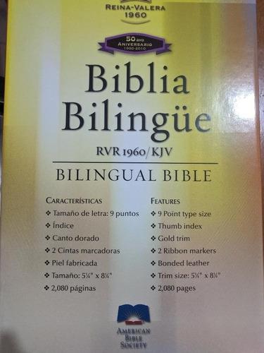 Biblia Bilingüe Rvr 1960 De Lujo Letra Grande. Piel, Índice