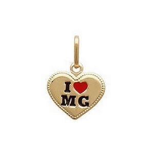 Colar Gargantilha Love Minas Gerais Mg Folheado A Ouro 18k