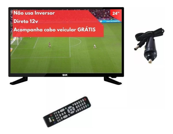 Tv 12v Digital Led 24 Onibus Truckfood Trailer Camping Sitio