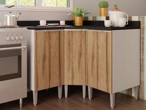 Cozinha Compacta Com 3 Balcões Essence Branco/desira - Aroma