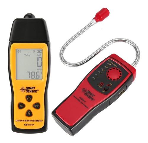 Combo Detector Fugas Gas Combustible Y Ppm Monoxido Carbono