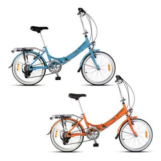 Bicicleta Plegable Aurora Rodado 20 Classic Retro Premium