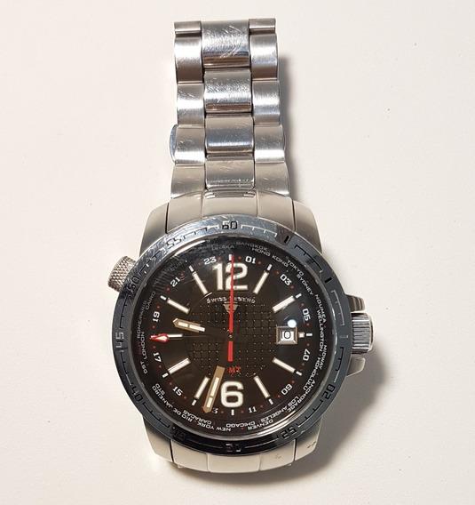 Swiss Legend Gmt World Timer Relógio Suiço Original