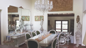 Sala Jantar Estilo Luis Xvi Antigo Mesa Buffet Cadeira 14pçs