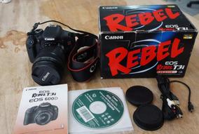 Canon T3i + Lente 18-135mm - Case De Silicone Grátis
