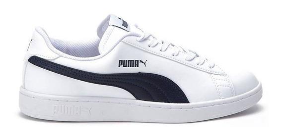 Zapatillas Puma Smash V2 L Adp Bco/mno - Corner Deportes