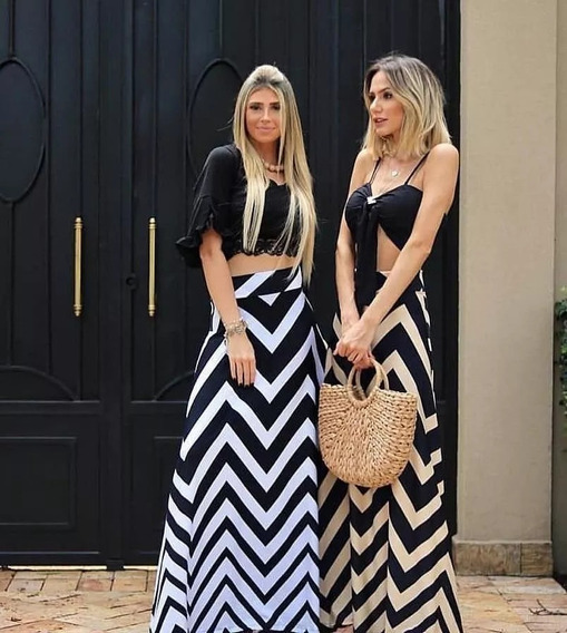 Saia Gode Moda Instagram Listrada Longa Linda Barata Zic-zac