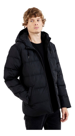 Campera Rusty Hunt Puffer Black - Hombre