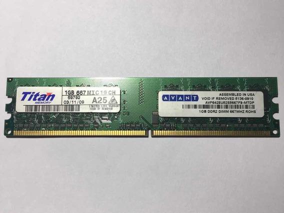 Memoria Ram 1gb Ddr2 667 Mhz Avant Titan