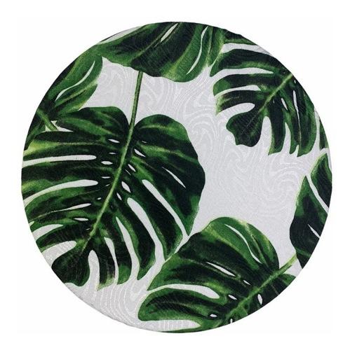 Kit Com 6 Sousplat Suspla Verde Natureza Costela De Adão