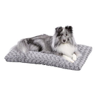 Midwest Quiet Time Pet Bed Deluxe Gray Ombre Swirl 29 X 21